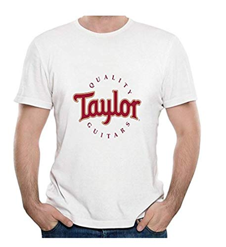 Taylor Quality Guitars Logo Men's T-Shirt Large (Guitar Logo Mens Tee)