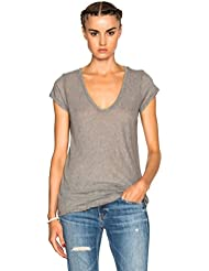 JAMES PERSE CASUAL SCOOP NECK CAP SLEEVE JERSEY TEE HEATHERGREY