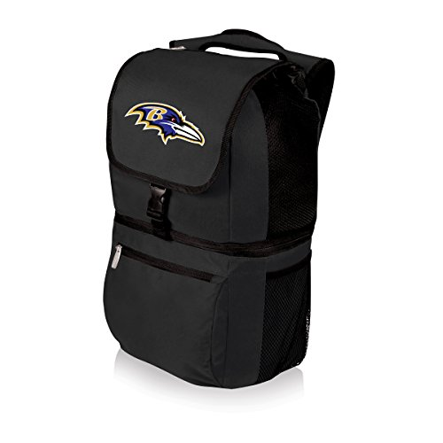 PICNIC TIME NFL Zuma Insulated Cooler Backpack, Baltimore Ravens by PICNIC TIME