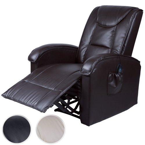 Fernsehsessel Relaxsessel mit Wärme + Massagefunktion Massagesessel mit Fernbedienung (Farbwahl)