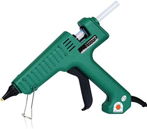 ビズアイ DIY、ホームクイック修復に適したホットメルト接着ガン、150Wプロフェッショナルハイパワー可変温度140°-220°ホットグルーガン、高速暖房、グリーン ホットグルーガン (Color : A)