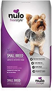 Nulo Small Breed Grain Free Dry Dog Food with BC30 Probiotic, Salmon & Red Lentils Recipe - 4.5 or 11 lb