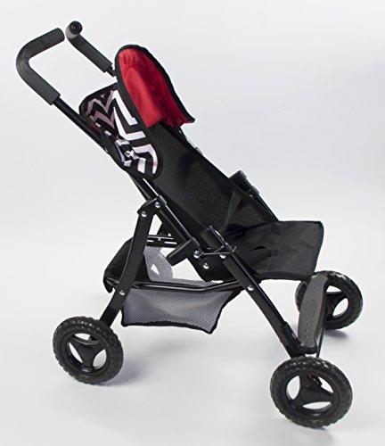 Lil' Rose Doll Stroller With Handles Modern Chevron Print