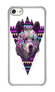 Apple Iphone 5C Case,WENJORS Cool Pinata BEAR Hard Case Protective Shell Cell Phone Cover For Apple Iphone 5C - PC Transparent