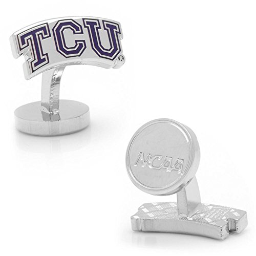 NCAA Mens Palladium TCU Horned Frog Cufflinks by NCAA