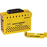 Brady 145580 Powder-Coated Steel Group Lockout Box, 20 Number of Padlocks, 6.7'' H x 9.5'' W, Yellow