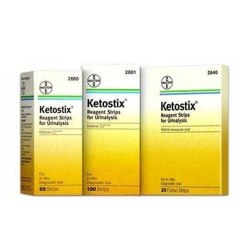 Ketostix Reagent Urine Test Strips for Ketones - Box of 50 Strips - AMS2880_BX