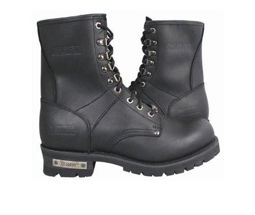 Xelement 1446 Vigilant Mens Black Logger Boots with Inside Zipper - 9