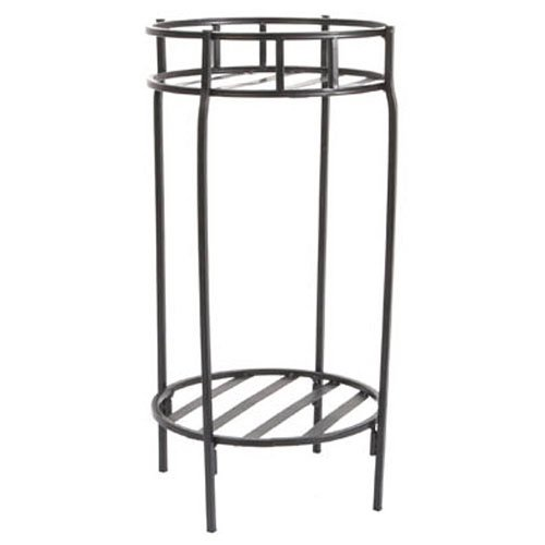 Panacea Contemporary Plant Stand, Black, 20.5