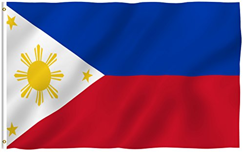 ANLEY [Fly Breeze] 3x5 Foot Philippines Flag - Vivid Color and UV Fade Resistant - Canvas Header and Double Stitched - Filipino Philippine National Flags Polyester with Brass Grommets