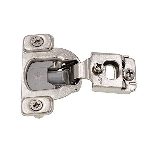 DECOBASICS Face Frame Cabinet Cupboard Door Hinges (100-Pack), ½ Inch Overlay. Quiet Soft Close Technology with Built-in Dampers. 3-Way Adjustability for Easy Installation. Heavy Duty Steel.