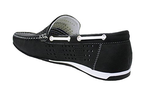 Mocassini uomo slip on nero scarpe basse casual traspiranti man's shoes