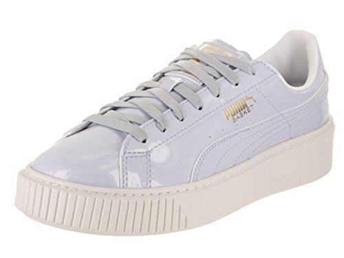 PUMA Women's Basket Platform Patent WN's Field Hockey Shoe, Halogen Blue-Halogen, 6.5 M (Leather Field Sneakers)