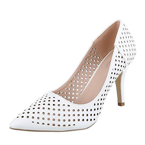 Ital design À Chaussures Talons Femme Blanc OYpZWwYqrf