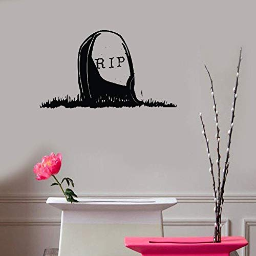 Teadyi Removable Vinyl Mural Decal Quotes Art Rip Gravestone Halloween Day -