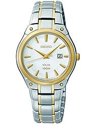 Seiko Womens SUT128 Dress Solar Analog Display Japanese Quartz Two Tone Watch