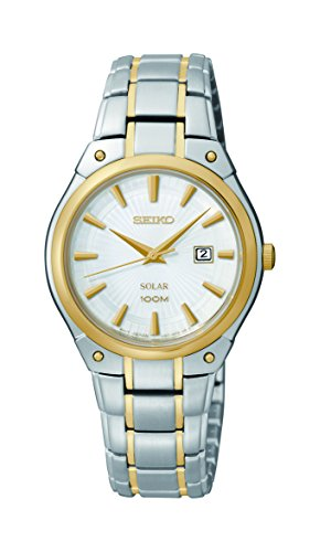 - Seiko Women's SUT128 Dress Solar Analog Display Japanese Quartz Two Tone Watch