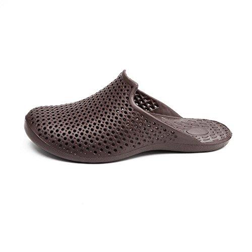 Antideslizante Hombre Redondos De Zapatillas Brown Con Playa Garden Summer Orificios Baotou Zapatos SXEqww