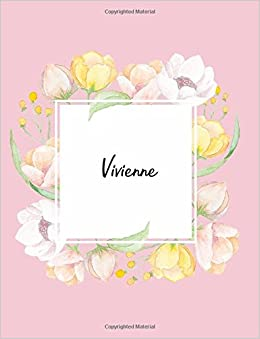 dbb87b92cf Vivienne: 110 Ruled Pages 55 Sheets 8.5x11 Inches Water Color Pink ...