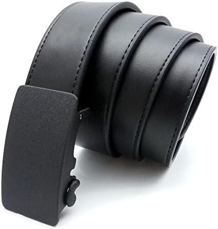 Belt MenS Leather Belt Business Automatic Buckle Belt Leather