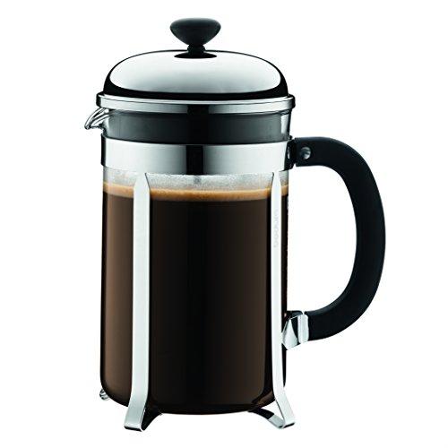 Bodum Chambord 12 Cup French Press Coffee Maker, Chrome, 1.5 l, 51 oz Bodum Chrome Coffee Maker