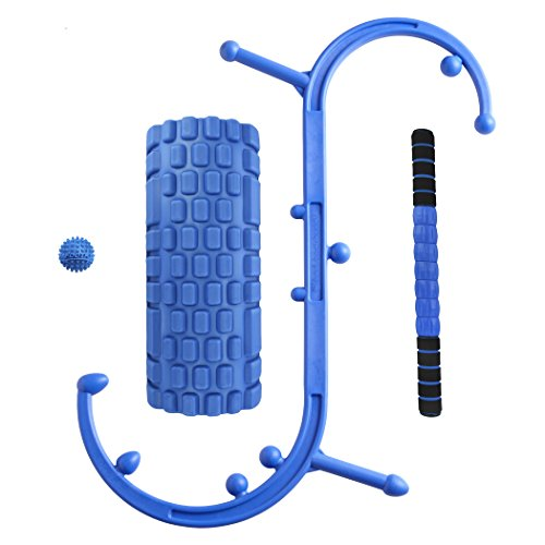 Body-Back-Companys-Body-Back-Buddy-Trigger-Point-Self-Massage-Tool-Matrix-Foam-Roller-Blue-Footstar-Massage-Ball-and-Trigger-Stick-20-Bundle-Matrix-Footstar-May-Vary-in-Color