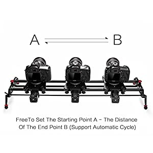 "Camera Slider, GVM 48"" Motorized Slider ,Time Lapse ,Tracking ,120-degree Panoramic Video Shooting, with Perfect Photograph Film Video Making,DSLR Camera Track Dolly slider Video Stablilzer"