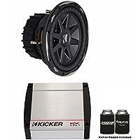 Kicker Bass Package - 10 CompVX Dual 4 Ohm Subwoofer and a KX400.1 400 Watt RMS Amplifier