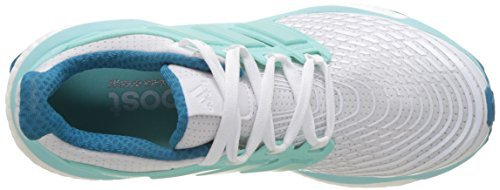 adidas Women's Energy Boost W Running Shoes, Pink, 9 UK White (Footwear White/Energy Aqua/Mystery Petrol)