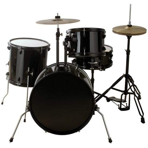 (Groove Percussion 4-Piece Drum Set with Hardware and Cymbals)