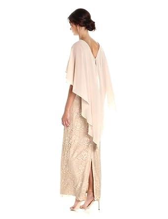 Jessica Howard Womens Long Sleeveless Capelet Sheath Dress