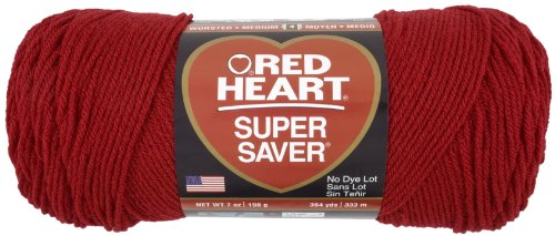 Red Heart Super Saver Economy Yarn, Cherry Red