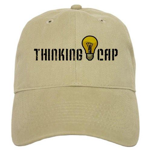 CafePress - Thinking Cap Cap - Baseball Cap with Adjustable Closure, Unique Printed Baseball Hat -