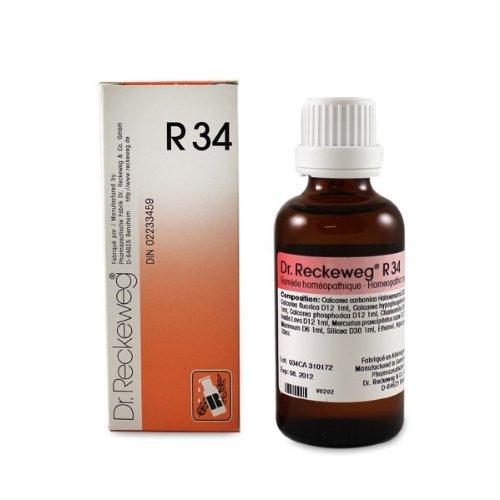 R34 L'ostéoporose 50ml de liquide par le Dr Reckeweg