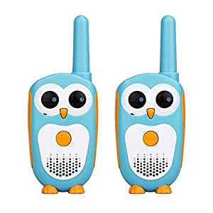 Retevis RT30 Kids Walkie Talkies Owl Appearance 1 Channel 2 Button Easy Operation Kids Toys for Birthday Gift Christmas (Blue+White)