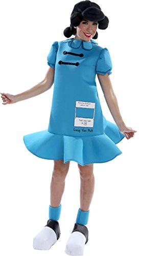 Lucy Van Pelt Dress (Palamon Women's Peanuts Lucy Costume, Blue, Small)