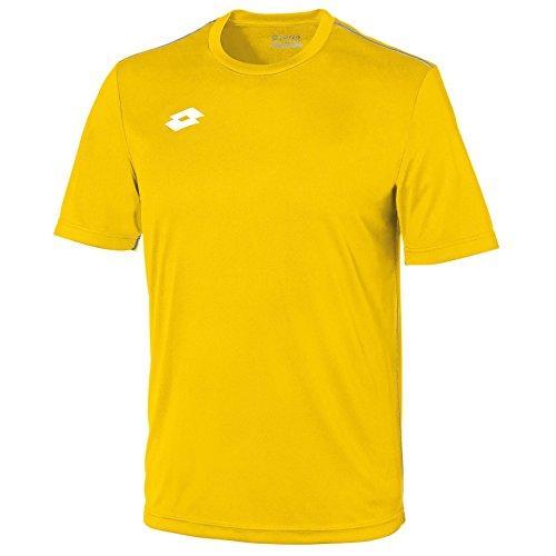 Lotto Mens Delta Jersey Short Sleeve T-Shirt (L) (Yellow/White)