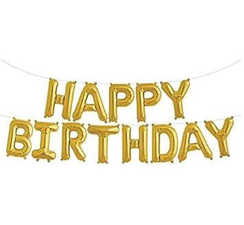 Amazon.com: Para colgar globos Feliz cumpleaños letras del ...