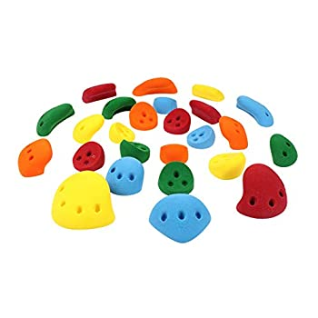 Image of 25 Kids Wall Pack #3 (Screw-on) | Barefoot Friendly Kids Rock Climbing Holds | Assorted Bright Tones