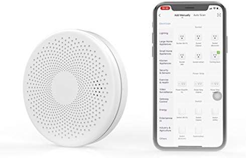 Tuya Smart WiFi Rookmelder WiFi Slimme Rook en Koolmonoxidemelder Alarm Dual Sensor Rook en Koolmonoxidemelder Alarmmelder Domotica Alarmmelder Mini Brandalarm voor Thuis Slaapkamer Babykamer