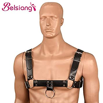 Belsiang Sexy Leather Harnesses Men Sex Body Harness Male Belt Chest  Bondage Erotic Toys Adult Sex