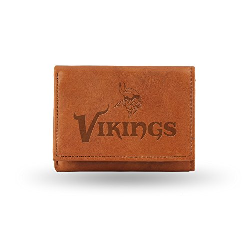 NFL Minnesota Vikings Embossed Genuine Leather Trifold Wallet