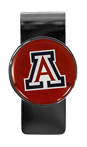 aminco NCAA Arizona Wildcats Stainless Steel Dome Money Clip ()