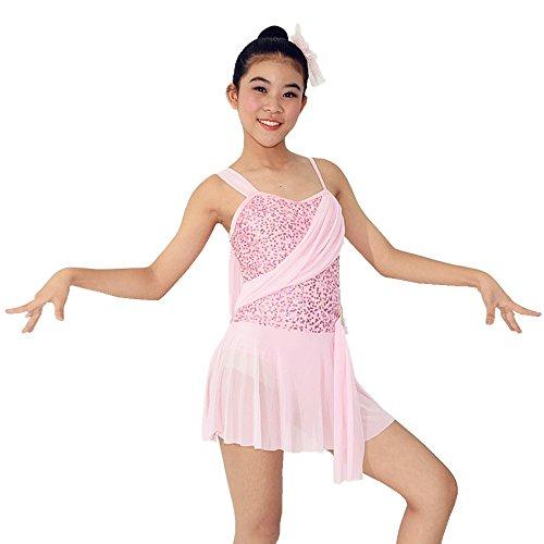 [MiDee Sequins Lyrical Dress Dance Wear Salsa Dance Dresses Ballroom Dress Dance Costumes (MA, Pink)] (Dance Costumes Ma)