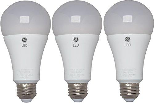 GE Lighting 37638 Energy-Smart LED 12-watt, 1100-Lumen A21 Bulb with Medium Base, Soft White, 3-Pack, - Light 130v Bulb A21