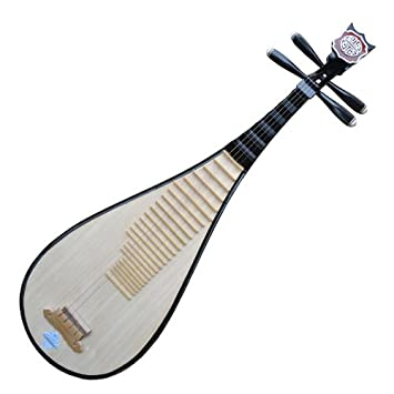 Marca nuevo tamaño de viaje pipa instrumento chino Laúd guitarra w/accesorios: Amazon.es: Instrumentos musicales
