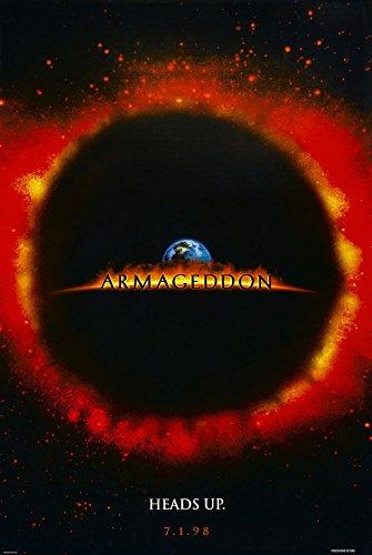 amazon com armageddon movie poster 2 sided original advance 27x40