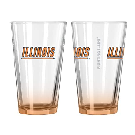 9d525e4b9e3f Amazon.com : NCAA Illinois - Elite Pint Glasses (2) | Illinois ...