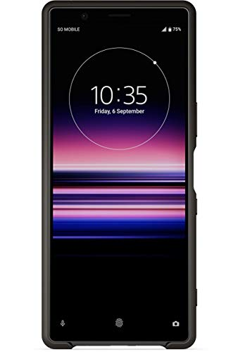 Sony Xperia 5 Style Back Cover – Official Xperia 5 Phone Case/Cover with Raised Rim and Side Sense Access – Premium Protection for Your Sony Xperia 5 – Black