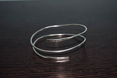 Two Layer Silver Overlay Upper Arm Cuff Hammered Handmade Armlet Bracelet For Girl Women All Size